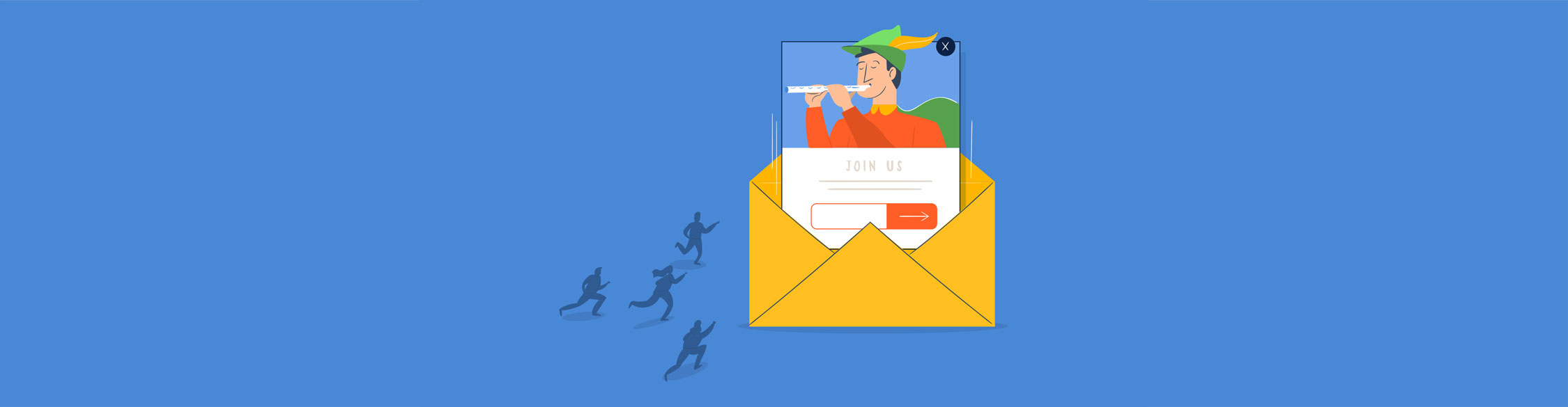 email popup - header