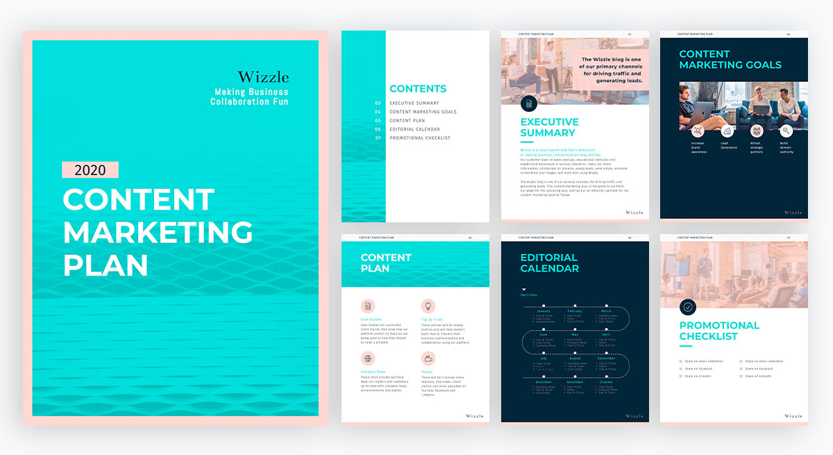 content marketing tips - content marketing plan template