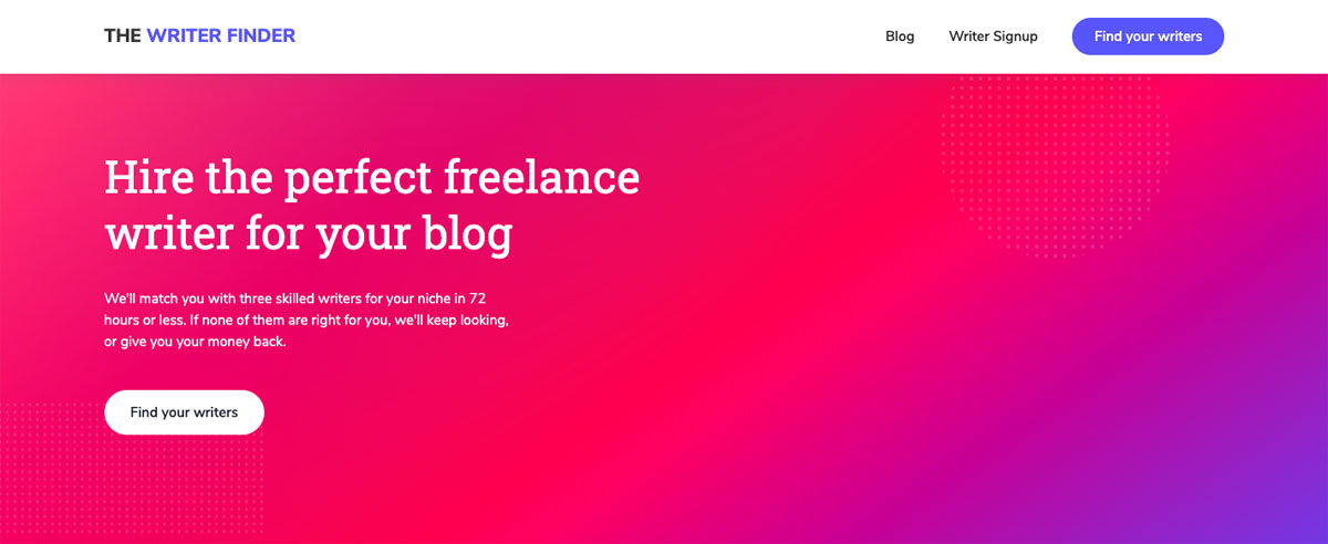 content marketing tips - the writer finder