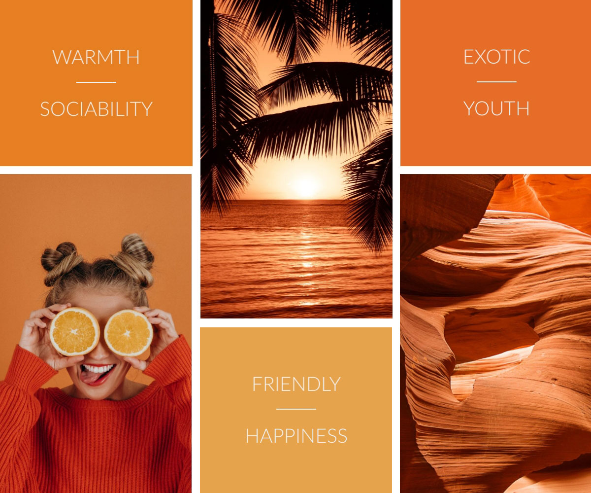 visual communication - warm visual imagery
