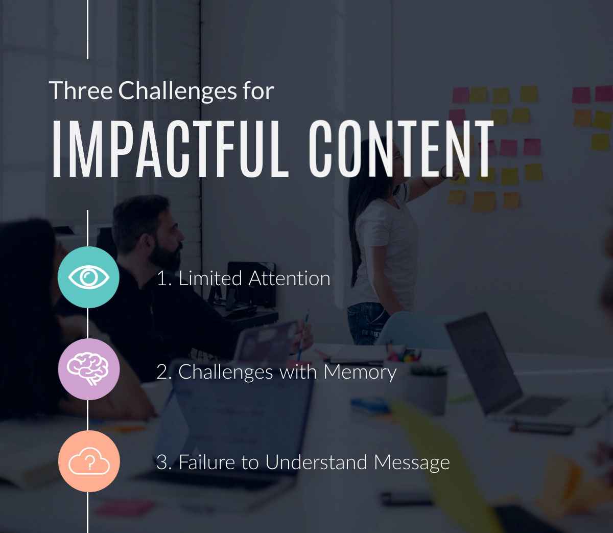 visual communication - three challenges for impactful content infographic