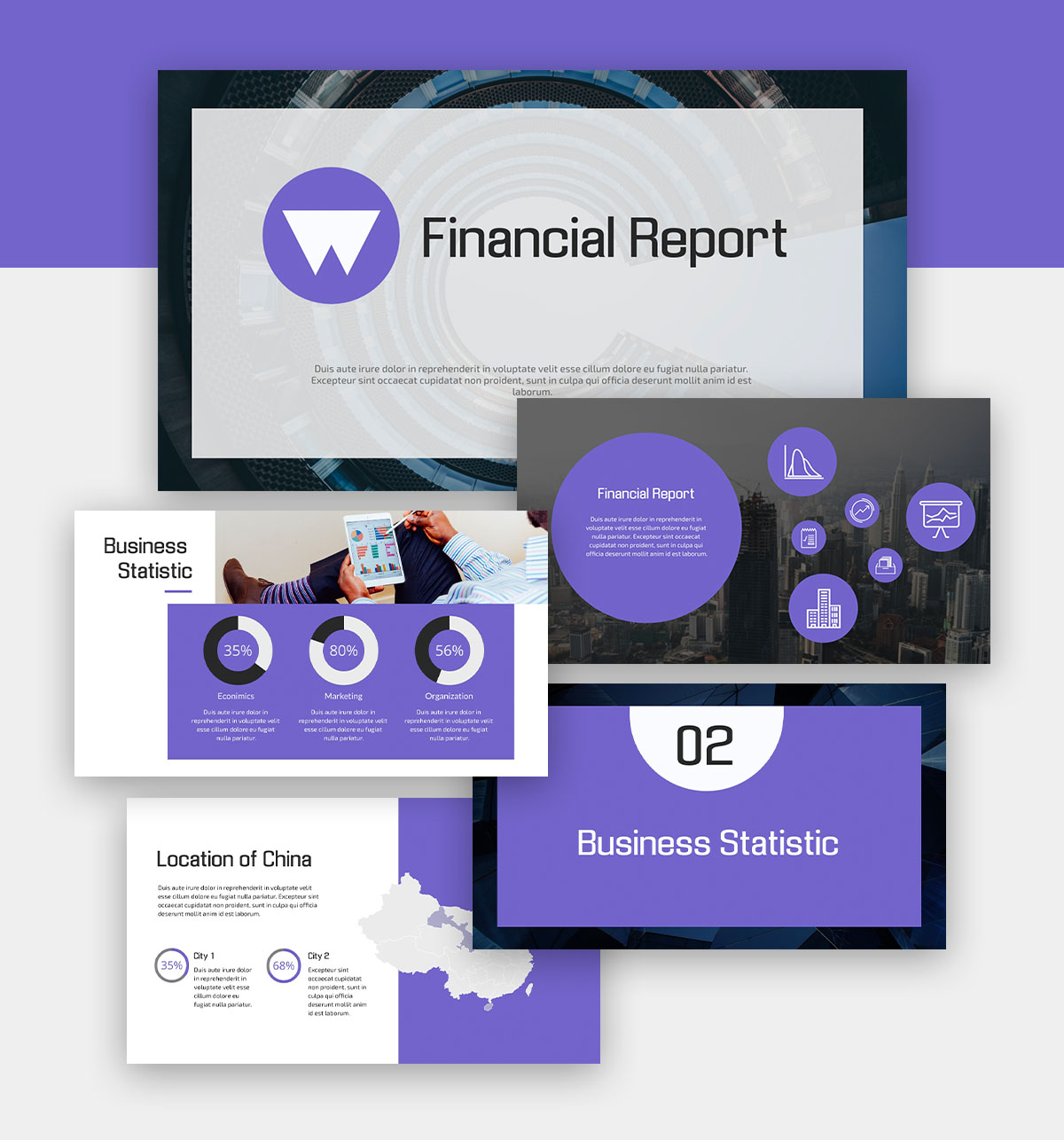powerpoint infographic - finance presentation template