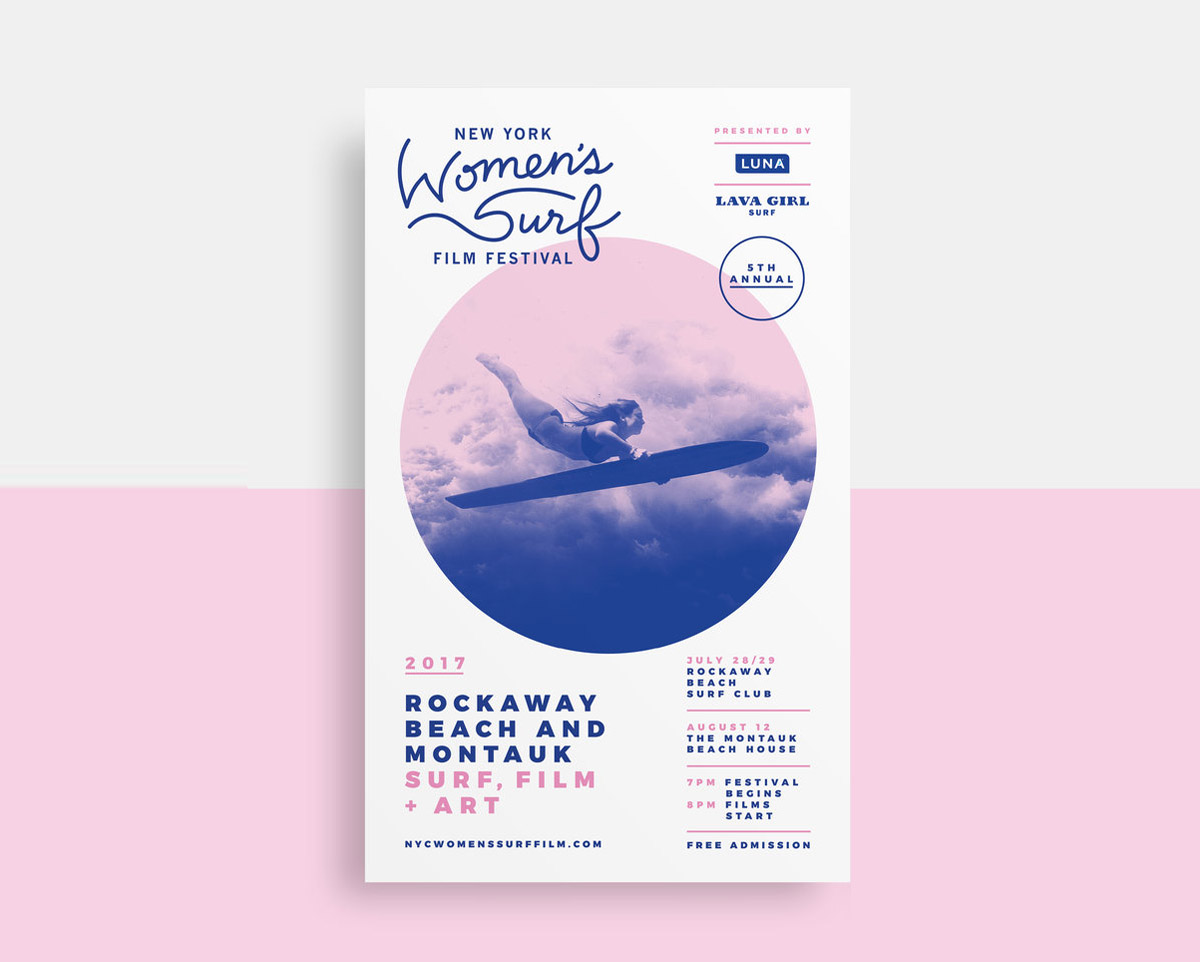 flyer examples - womens surf flyer