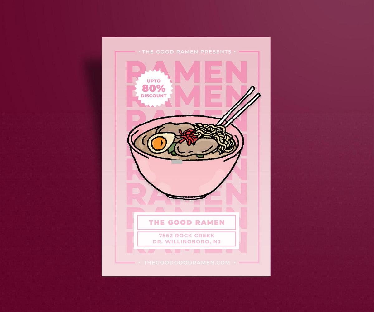 flyer examples - the good ramen