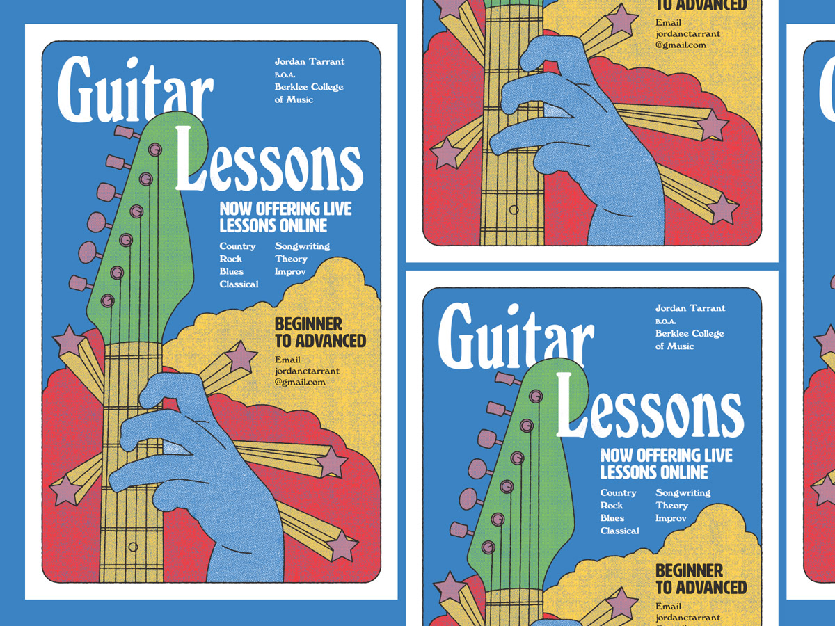 flyer examples - guitar lessons flyer
