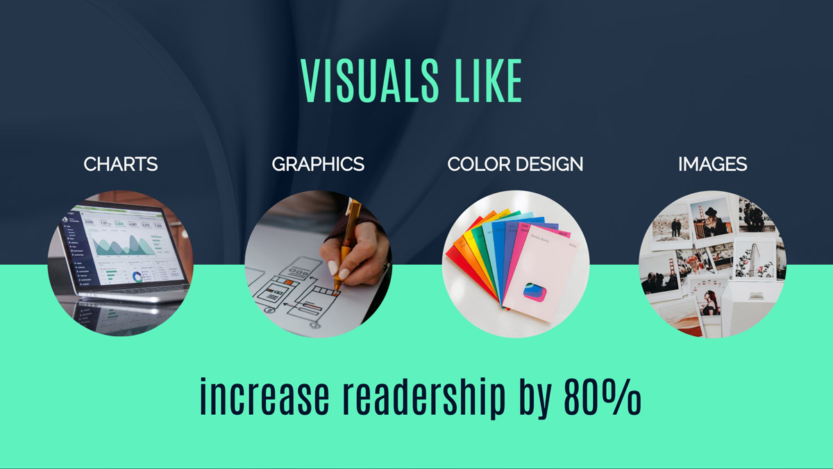 infographic statistics - 80% higher readership