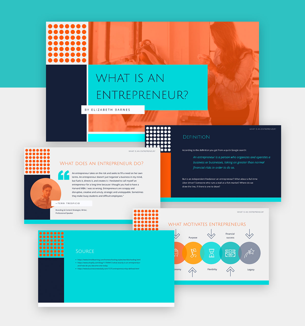 powerpoint infographic - entrepreneur presentation template