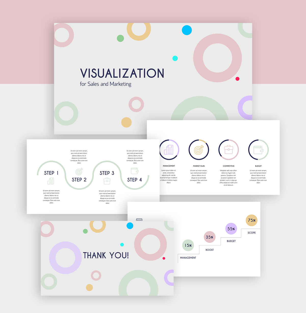 powerpoint infographic - geometric presentation template