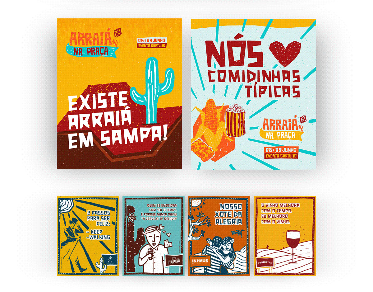 flyer examples - arraia na praca