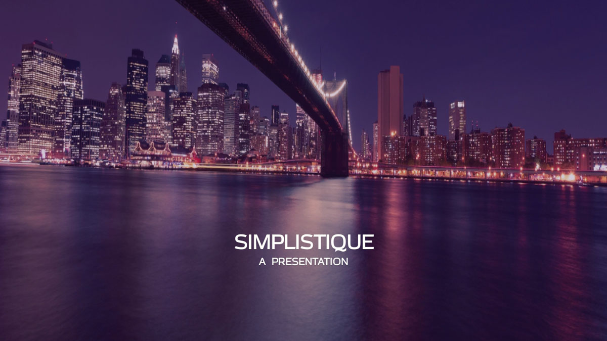 marketing presentation - simplistique presentation template