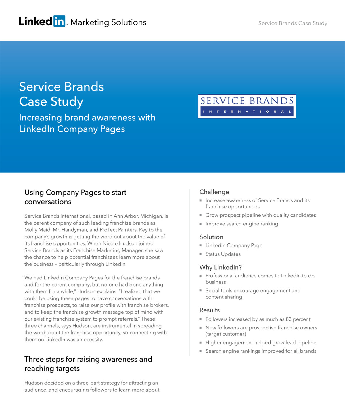 case study infographic - example from linkedin