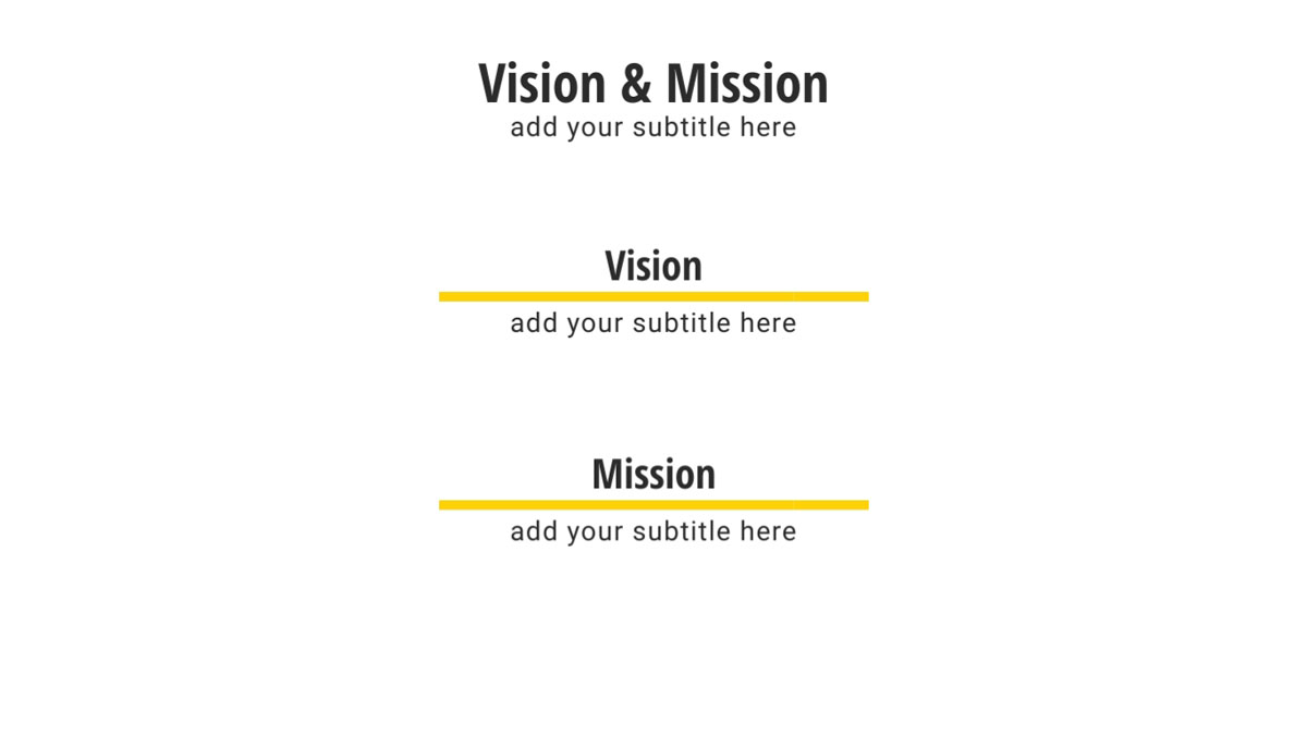 marketing presentation - vision & mission presentation slide template