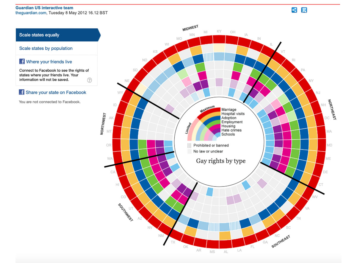animated interactive infographics - gay rights in the US