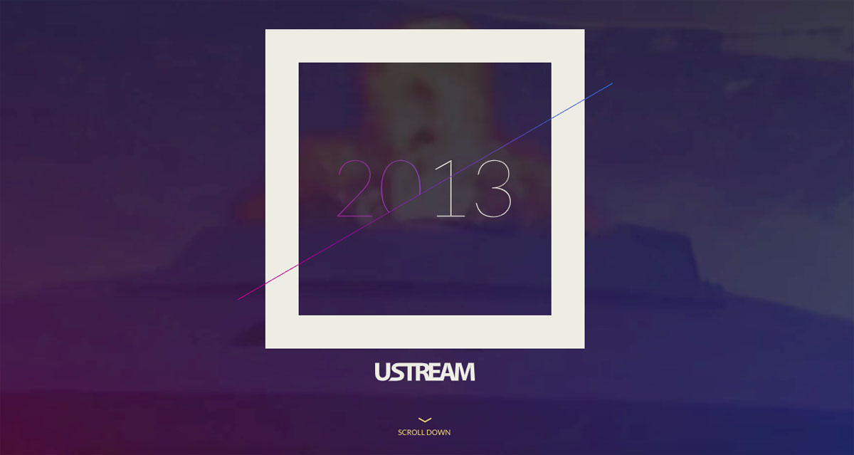 animated interactive infographics - ustream corporate report