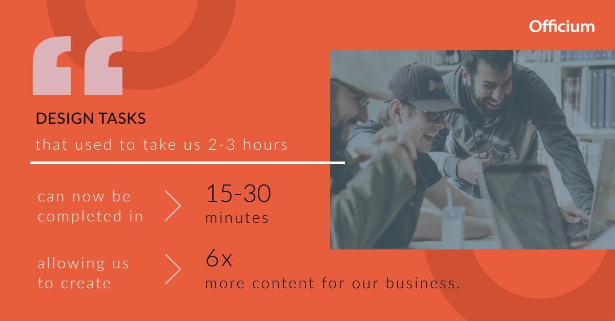 visme case study - officium productivity quote