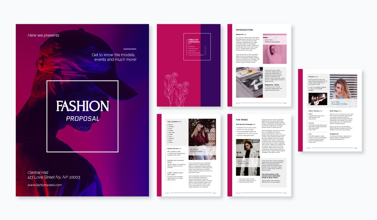 fashion proposal template