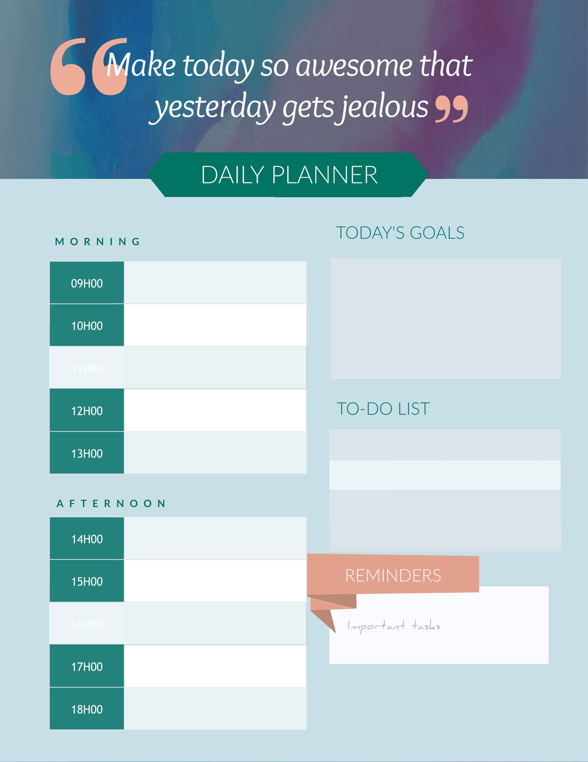 creativity exercises - daily planner