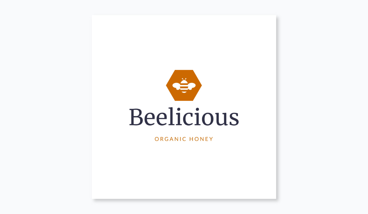 how to design a logo - beelicious logo template