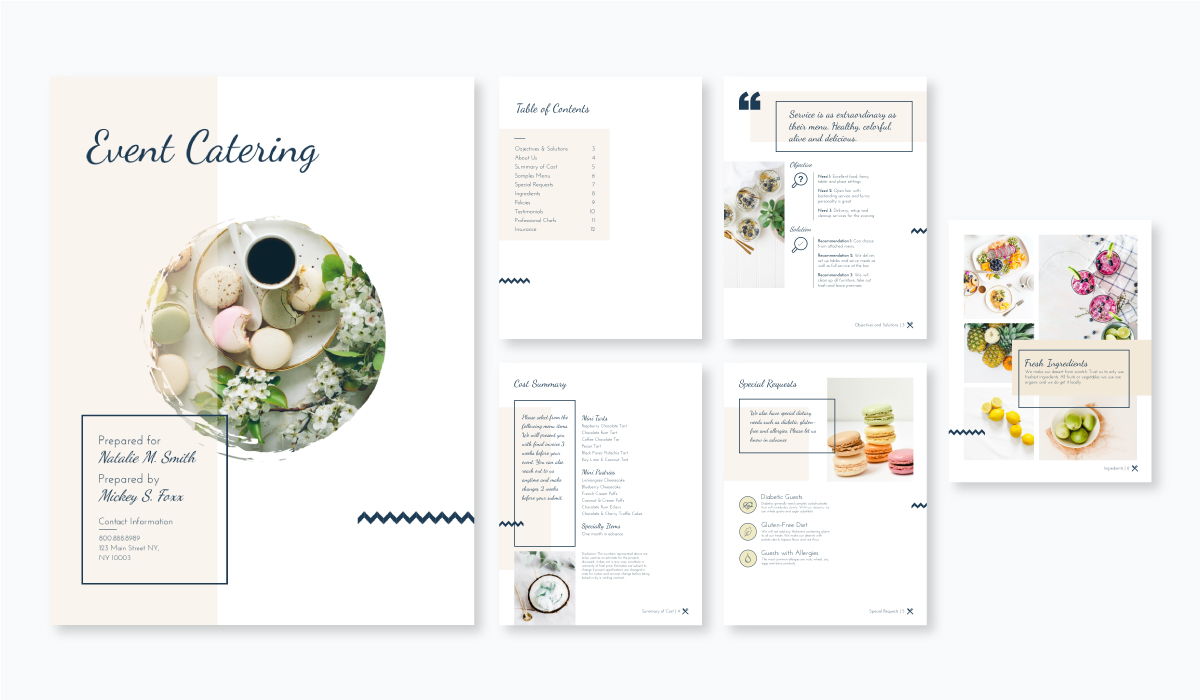 event catering proposal template