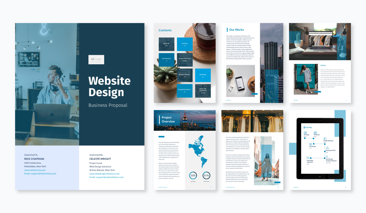 website design proposal template