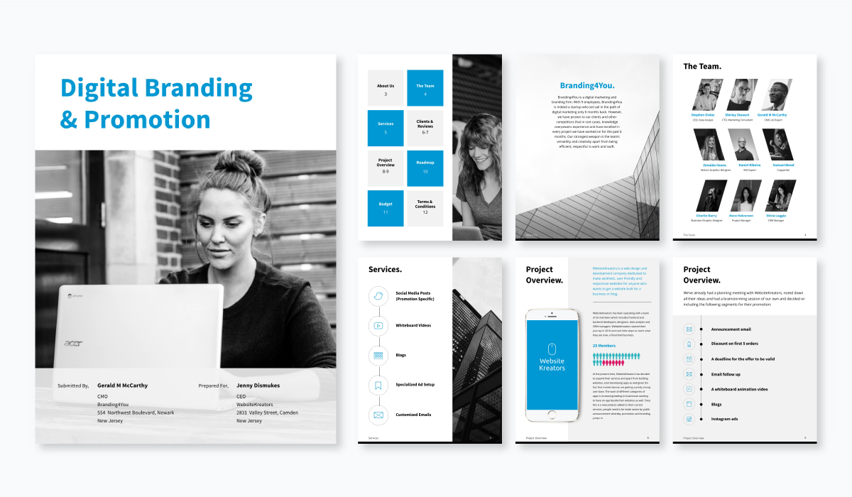 digital branding proposal template