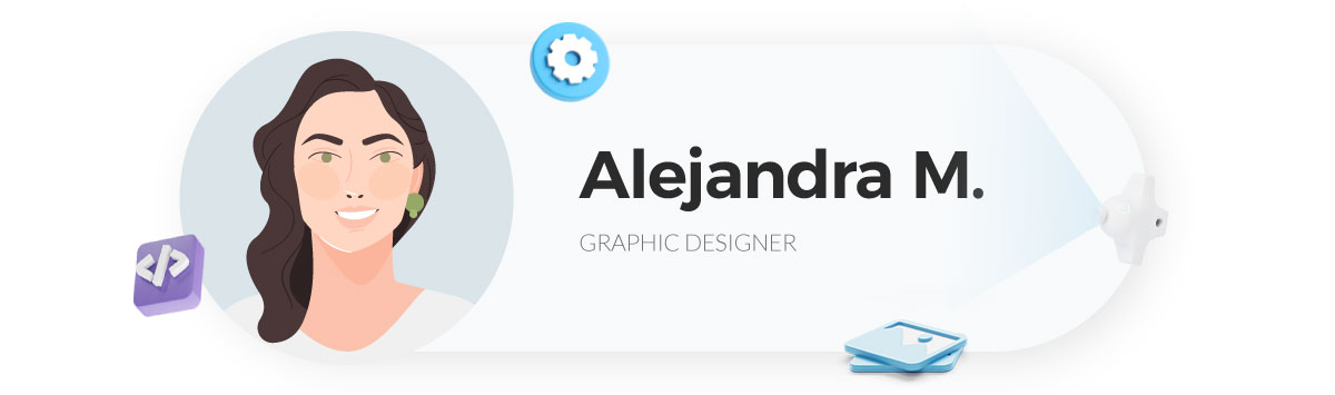 visme gif maker - alejandra graphic designer at visme