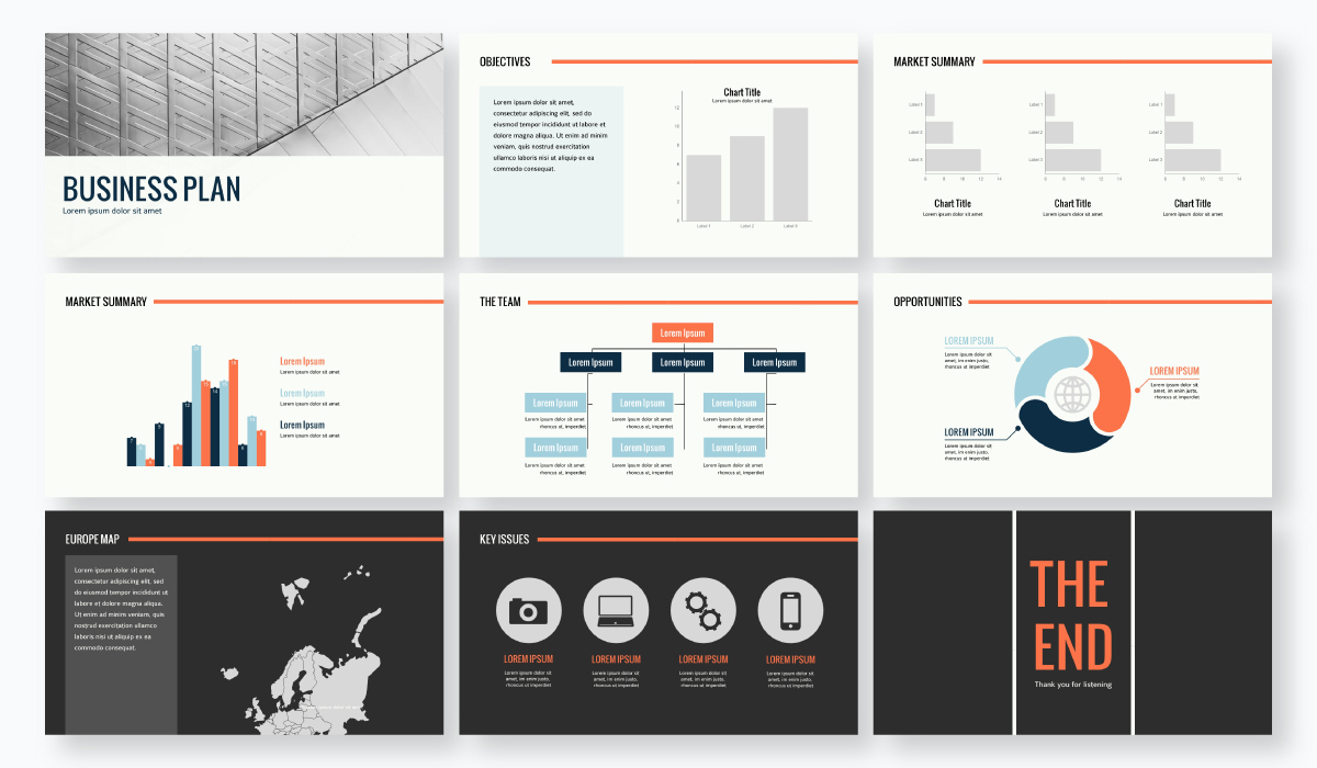 business plan presentation - financial sector presentation template