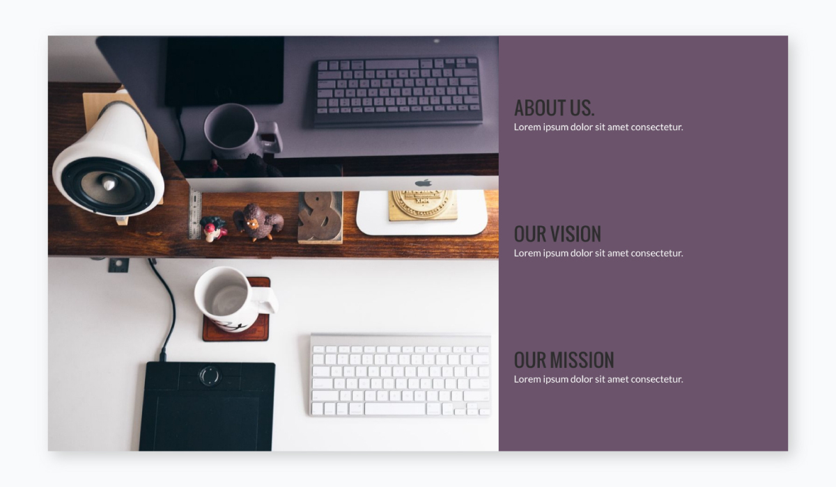 business plan presentation - incorporate visual elements like in this template