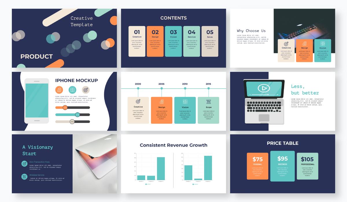 business plan presentation - product presentation template