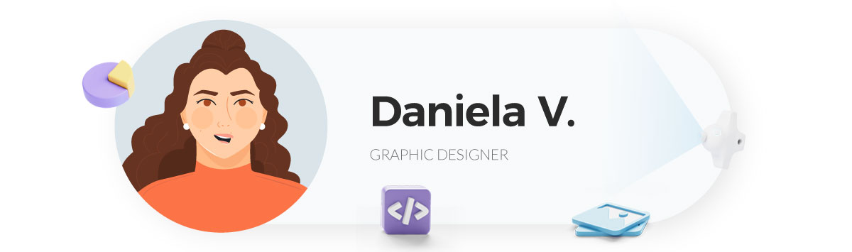 visme gif maker - daniela graphic designer at visme