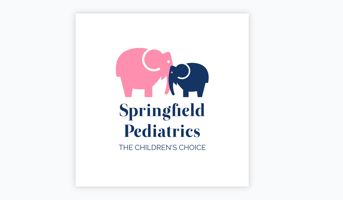 how to design a logo - pediatrics logo template