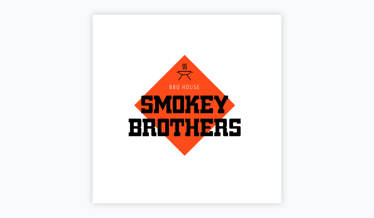 how to design a logo - smokey brothers logo template