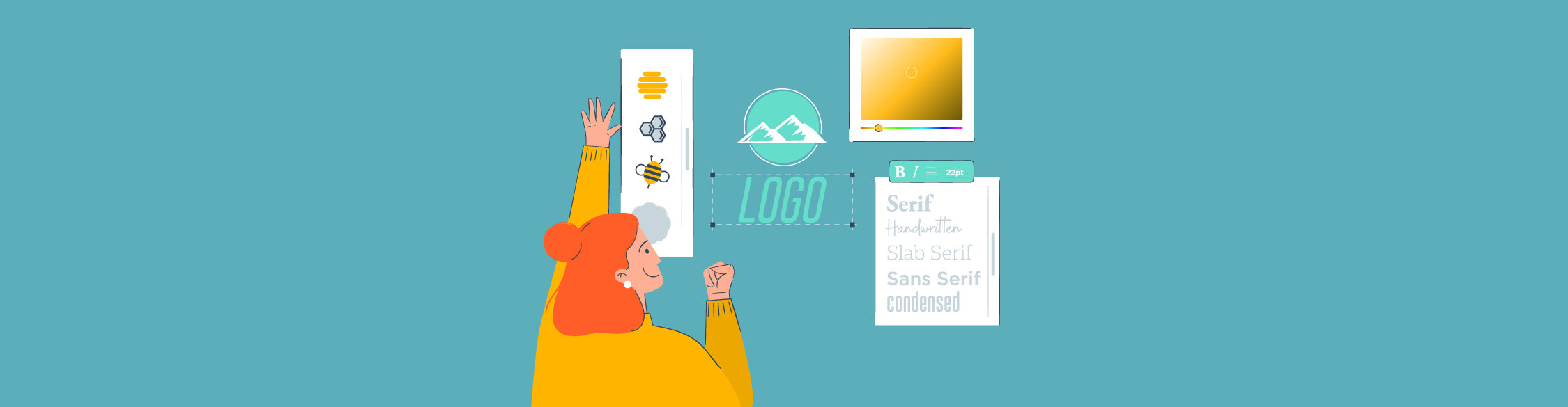 how to design a logo - header