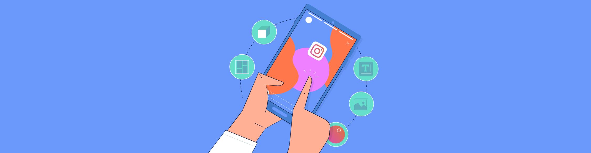 instagram story design - header