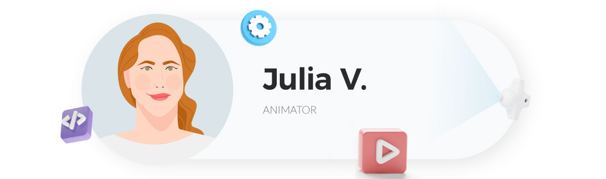 visme gif maker - julia animator at visme