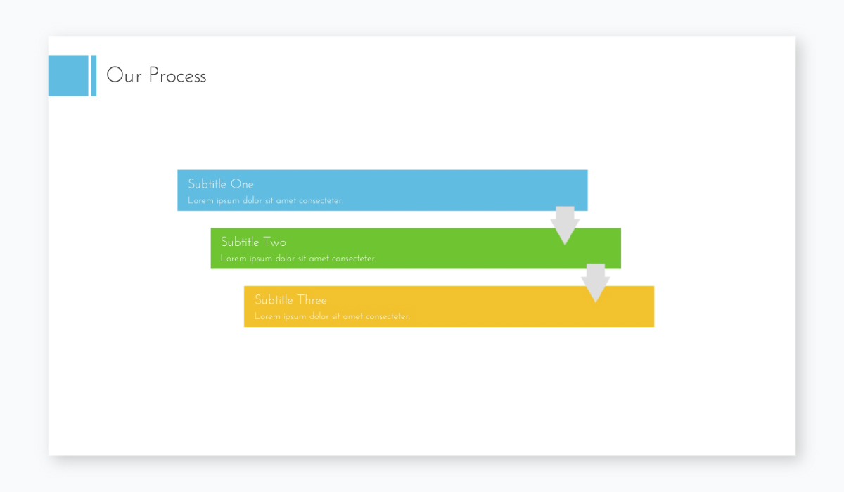 business plan presentation - process slide template