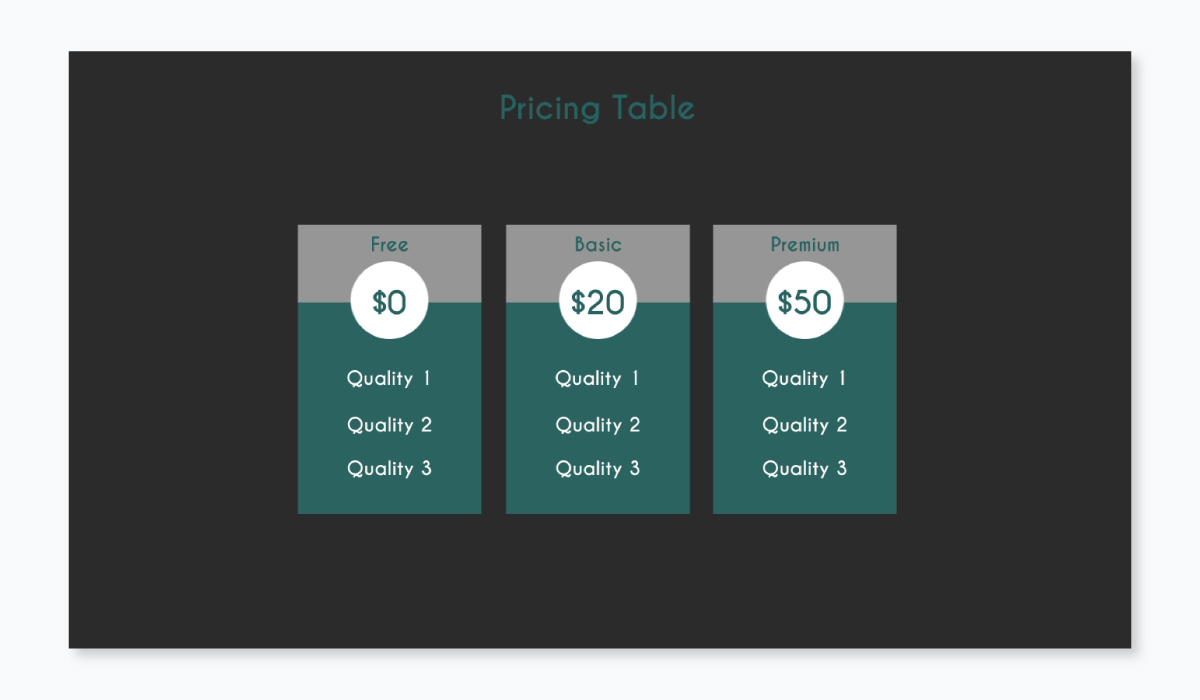 business plan presentation - pricing plan template