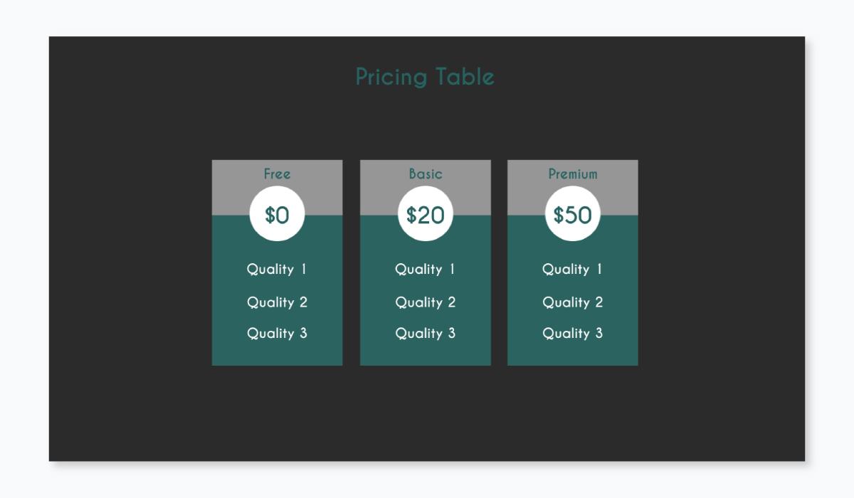business plan presentation - pricing plan template