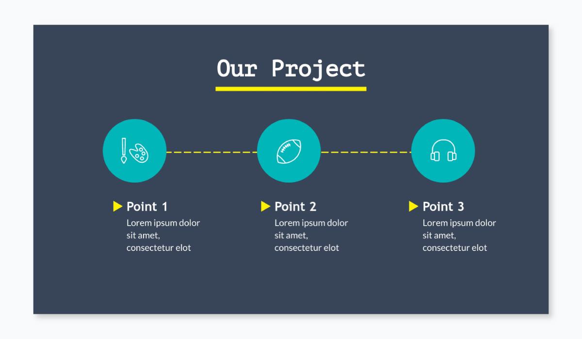 business plan presentation - solution slide template