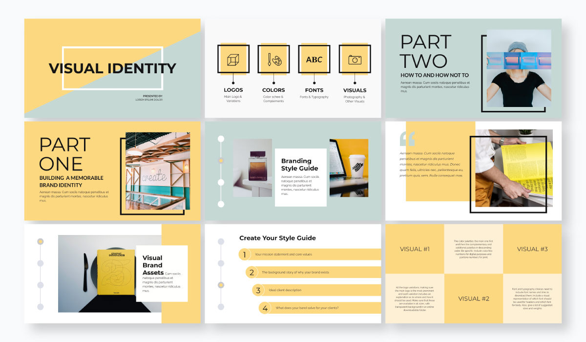 business plan presentation - visual identity template