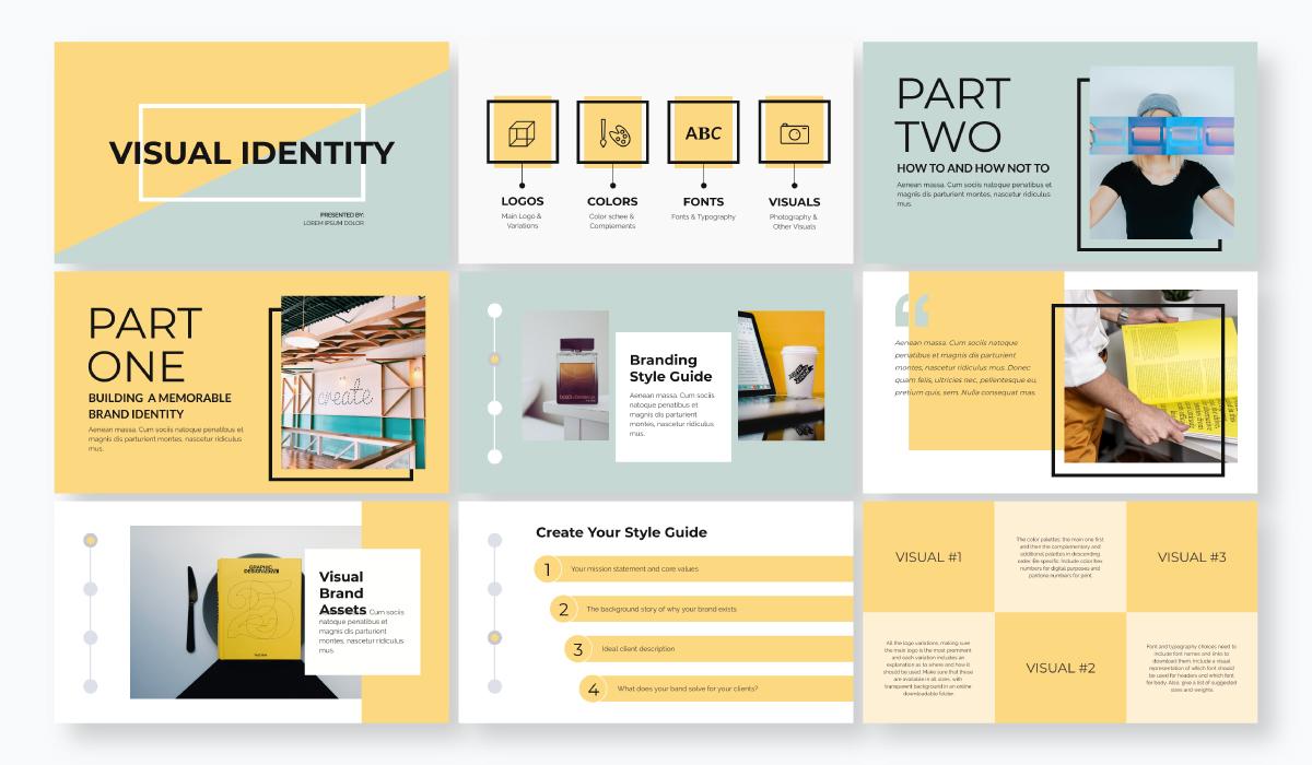 business plan presentation - visual identity template
