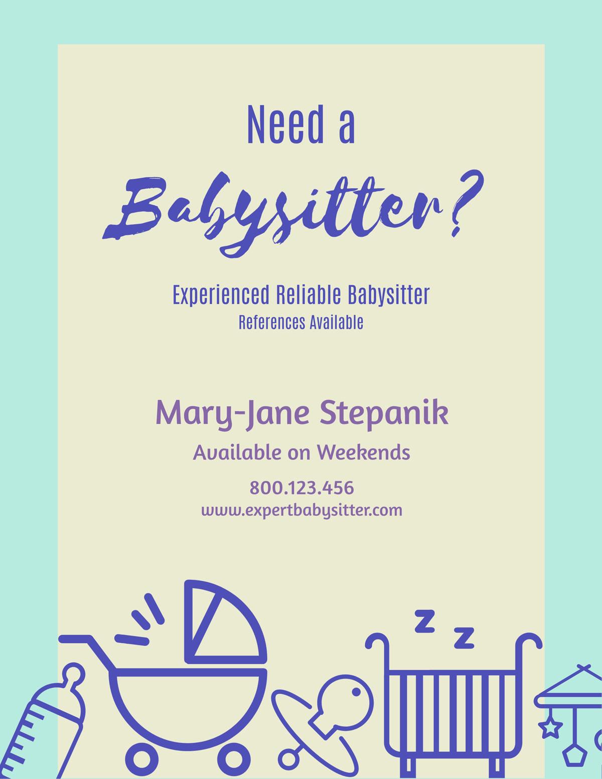 flyer templates - babysitter