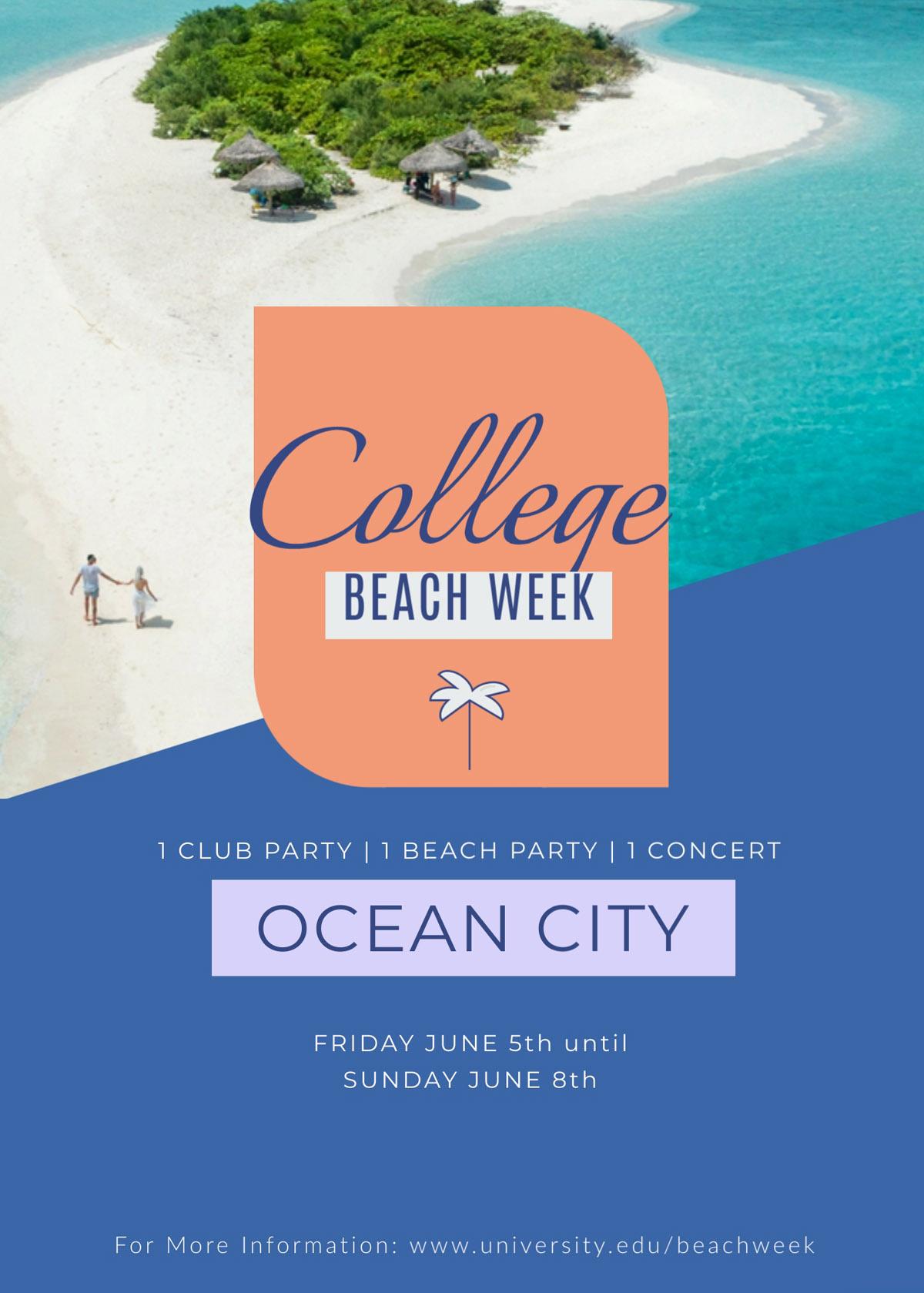 flyer templates - beach event