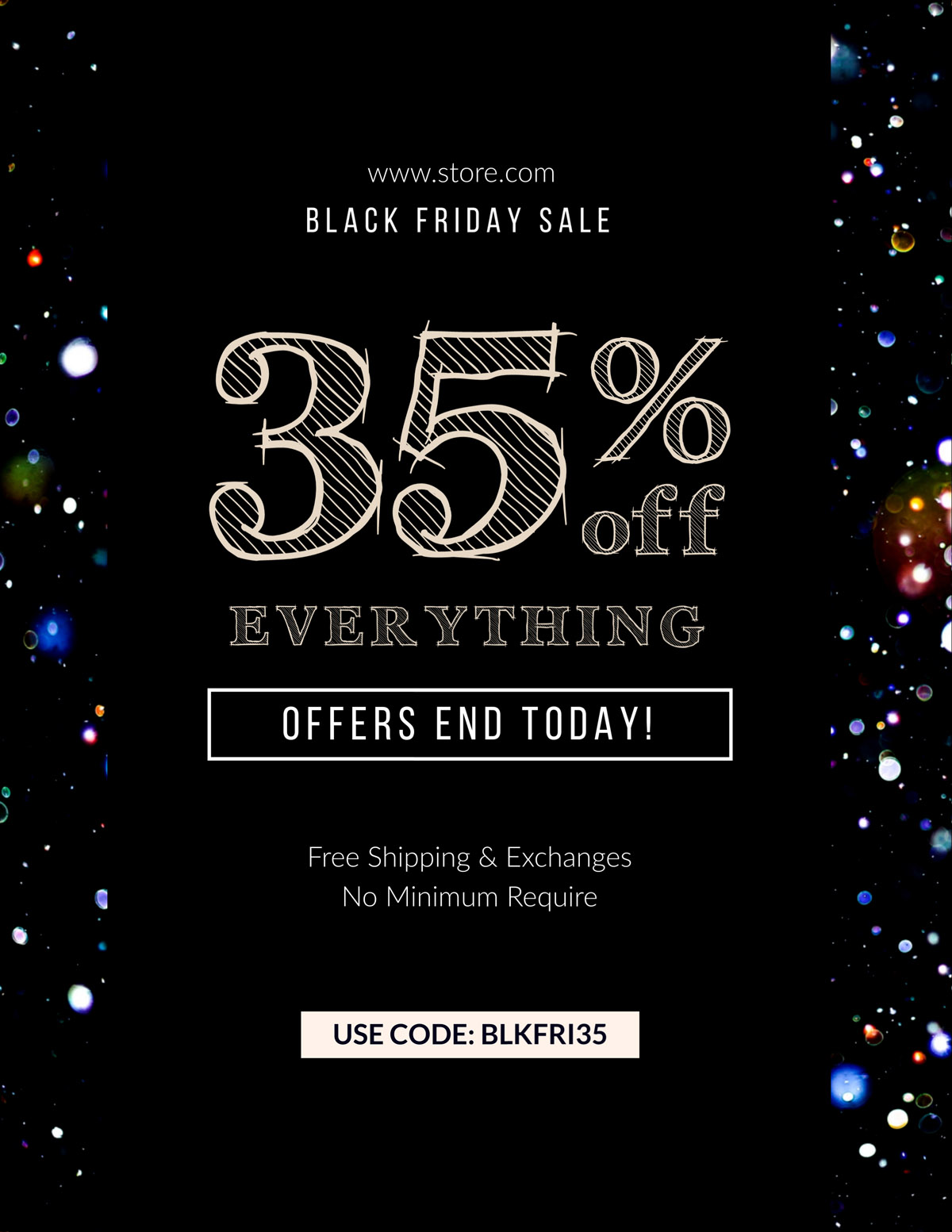 flyer templates - black friday sale