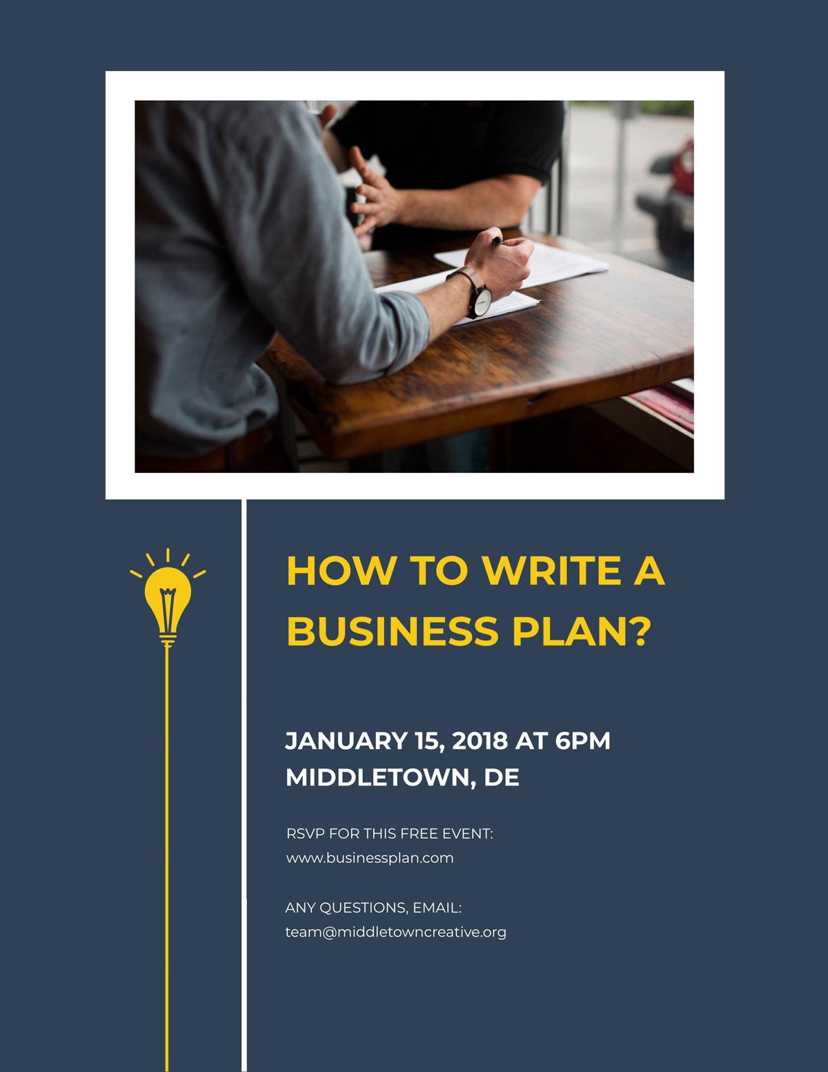 flyer templates - business plan contest workshop