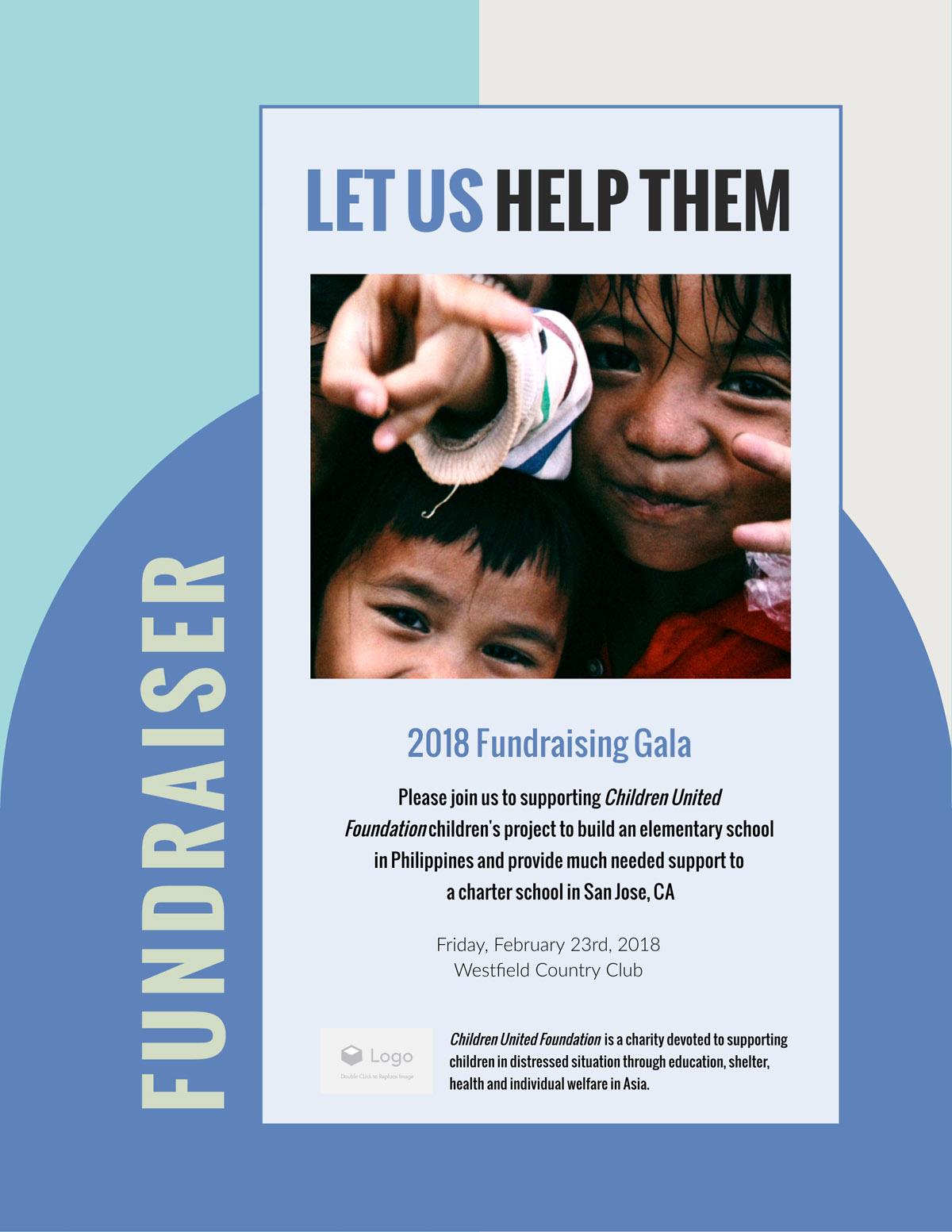 flyer templates - children fundraiser event nonprofit