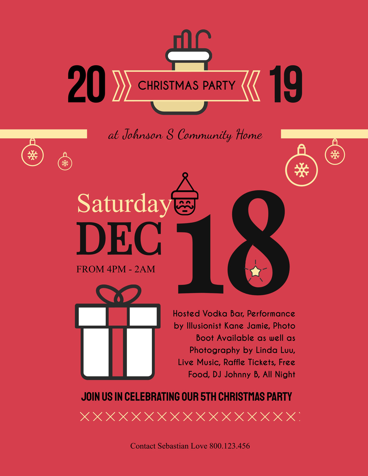 flyer templates - christmas party event