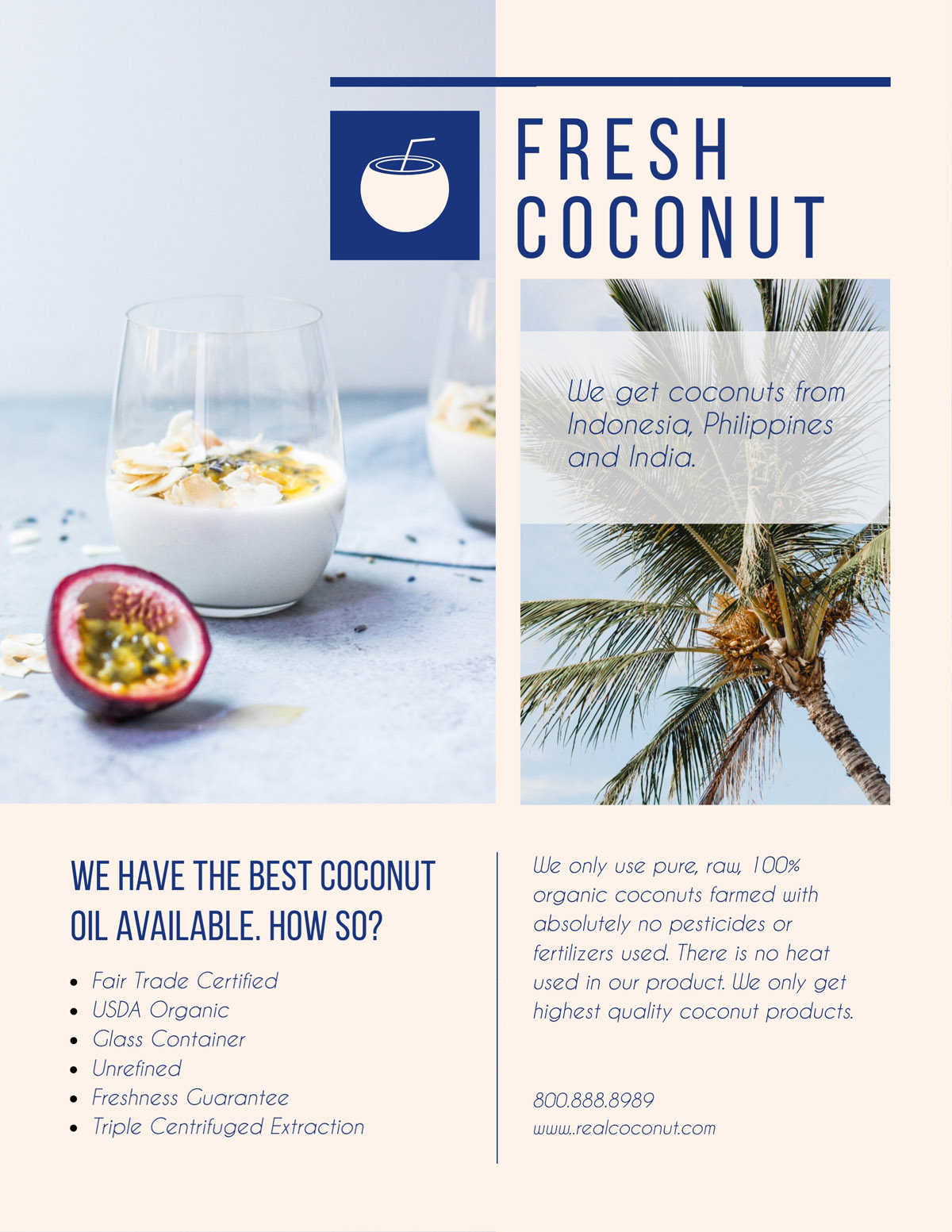 flyer templates - coconut oil