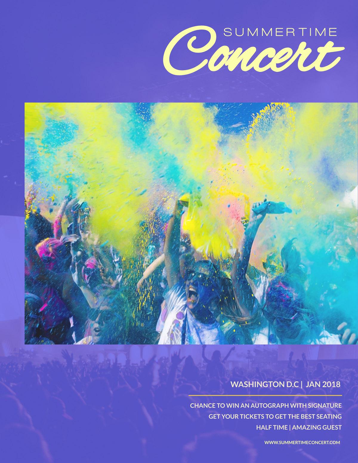 flyer templates - concert event