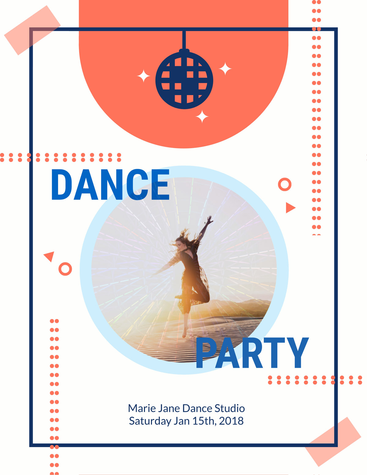flyer templates - dance party event